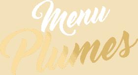 Logo page menus 'Menu Plume'