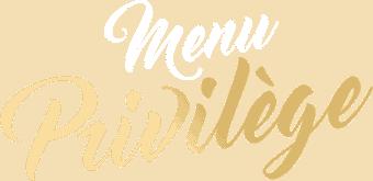 Logo page Menus 'Menu Privilège'