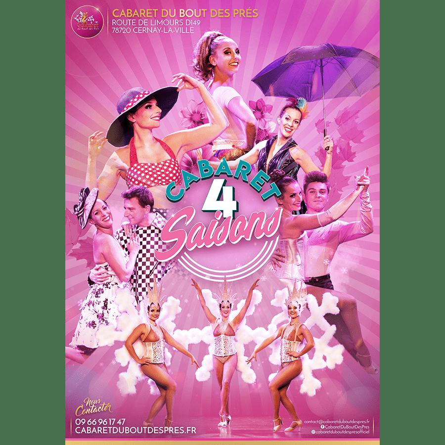Affiche Spectacles Évènements 'Cabaret 4 Saisons'